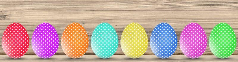 La tradición de los huevos de chocolate en Pascua imagenes de archivo