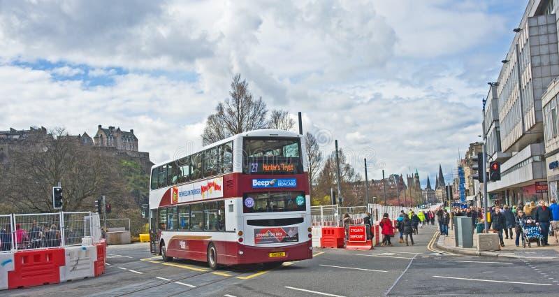 La tramway fait trafiquer l'interruption image libre de droits