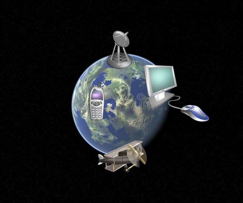 La transmission du monde illustration de vecteur
