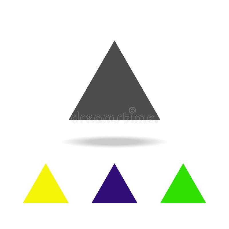 la triangle équilaterale a coloré des icônes Les éléments de la figure géométrique ont coloré des icônes Peut être employé pour l illustration stock