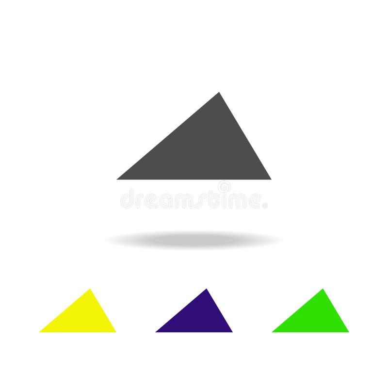 la triangle aiguë a coloré des icônes Les éléments de la figure géométrique ont coloré des icônes Peut être employé pour le Web,  illustration stock