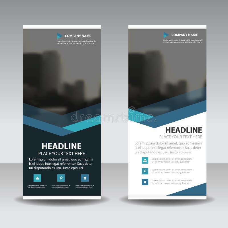 La triangle bleue enroulent la conception de bannière d'insecte de brochure d'affaires, fond géométrique d'abrégé sur présentatio