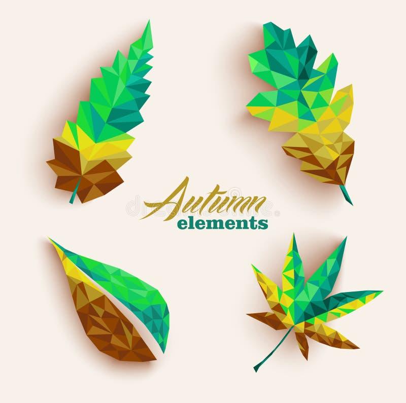 La triangle d'automne part de l'ensemble d'icône de composition. Dossier EPS10. illustration stock