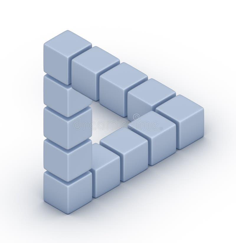 La triangle de Penrose illustration de vecteur