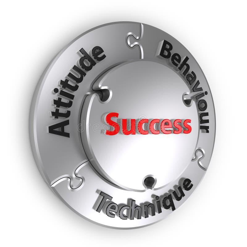 La triangle de réussite photos libres de droits