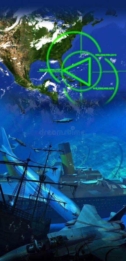 La triangle des Bermudes illustration stock