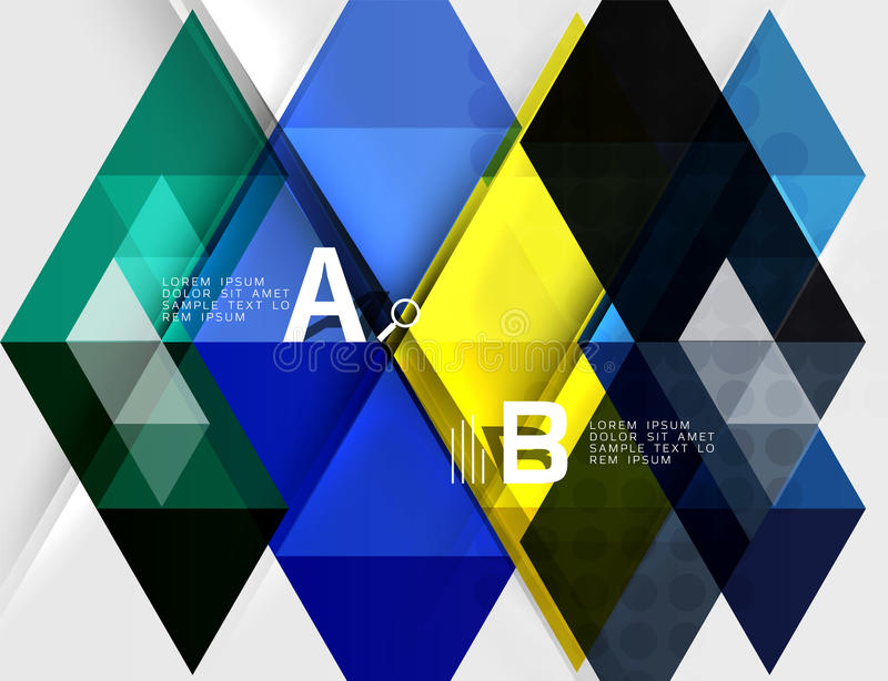 La triangle transparente couvre de tuiles la bannière illustration libre de droits