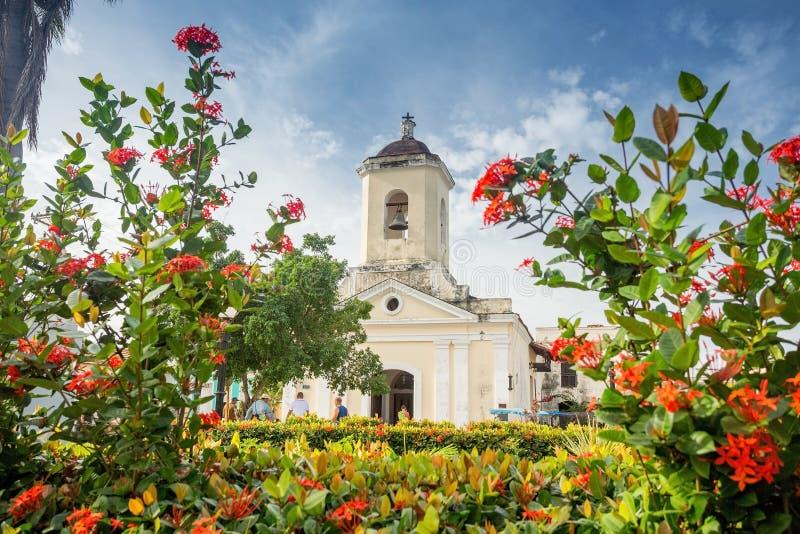La Trinidad, Cuba San Francisco de Paula Church immagini stock