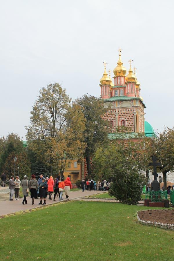 La trinidad-Sergius Lavra en Sergiev Posad Rusia imagen de archivo libre de regalías