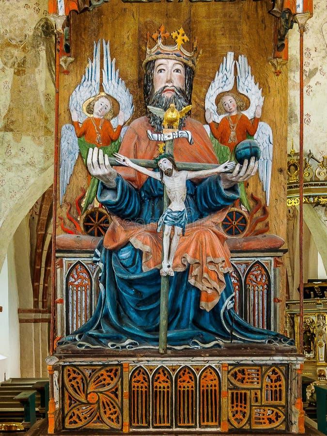 La trinité sainte dans l'église de Sankt Olofs photo libre de droits