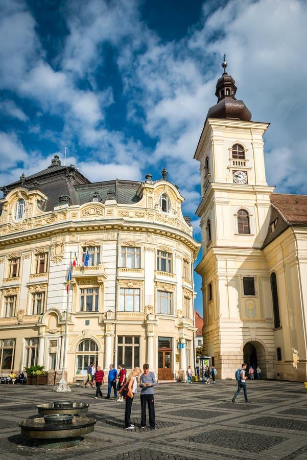 La trinité sainte Roman Catholic Church, Sibiu photo libre de droits