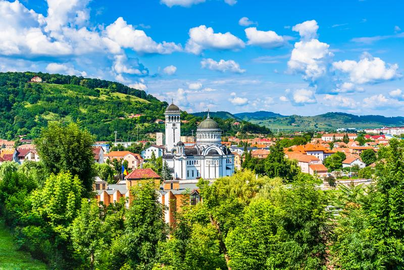 La trinité sainte une église orthodoxe dans Sighisoara, comté de Mures, Roumanie photographie stock libre de droits