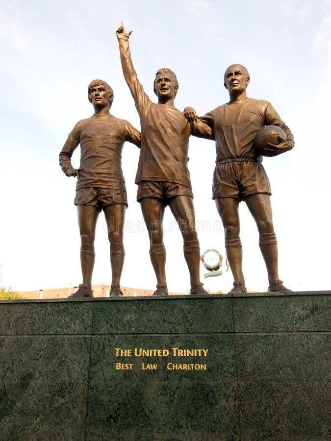 La trinité unie de Manchester United photographie stock