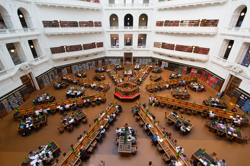 La Trobe reading room at the State Library of Victoria in Melbourne. royalty free stock photos