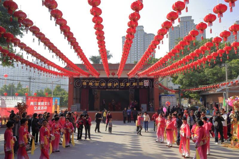 La troupe de drame de Fujian exécutent photographie stock