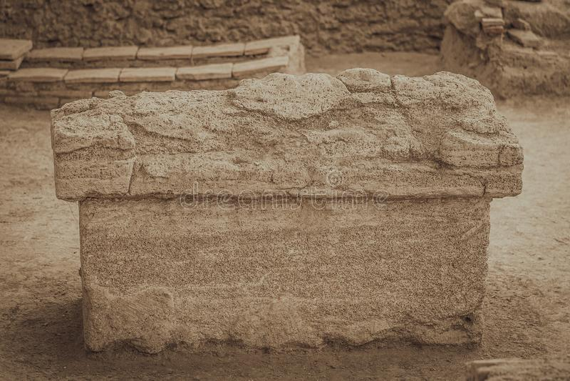 La tumba de Roman Emperor - el Viminacium fotografía de archivo libre de regalías