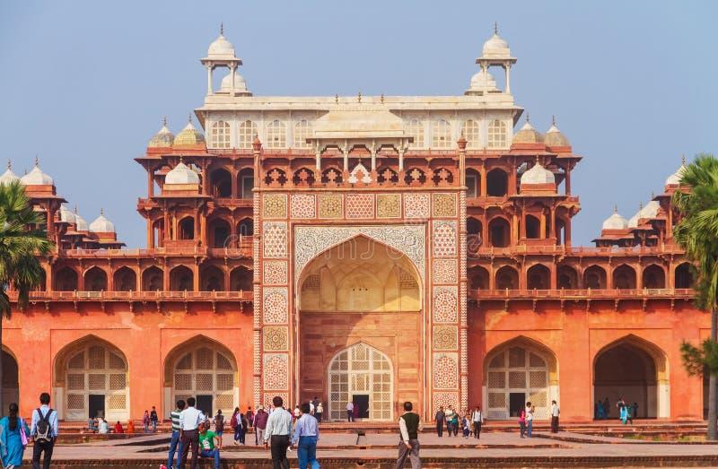 La tumba del gran Akbar fotos de archivo