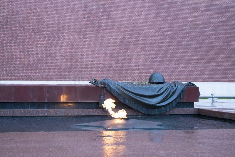 La tumba del soldado desconocido, Moscú, Rusia imagen de archivo