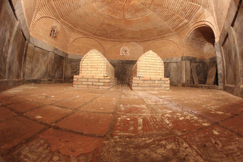 La tumba en el mausoleo de Aksaray en la ciudad de Samarkand, Uzbekistán fotografía de archivo
