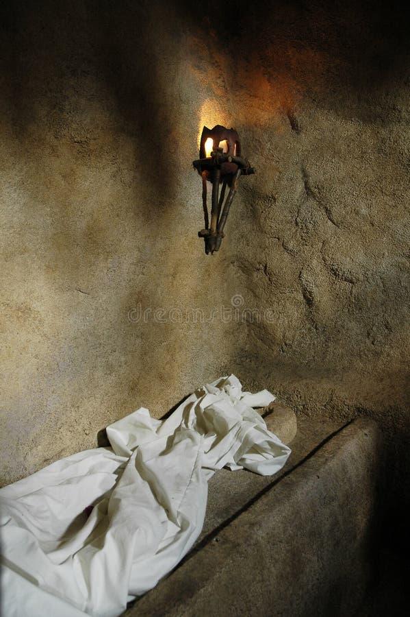 La tumba vacía del jardín foto de archivo libre de regalías