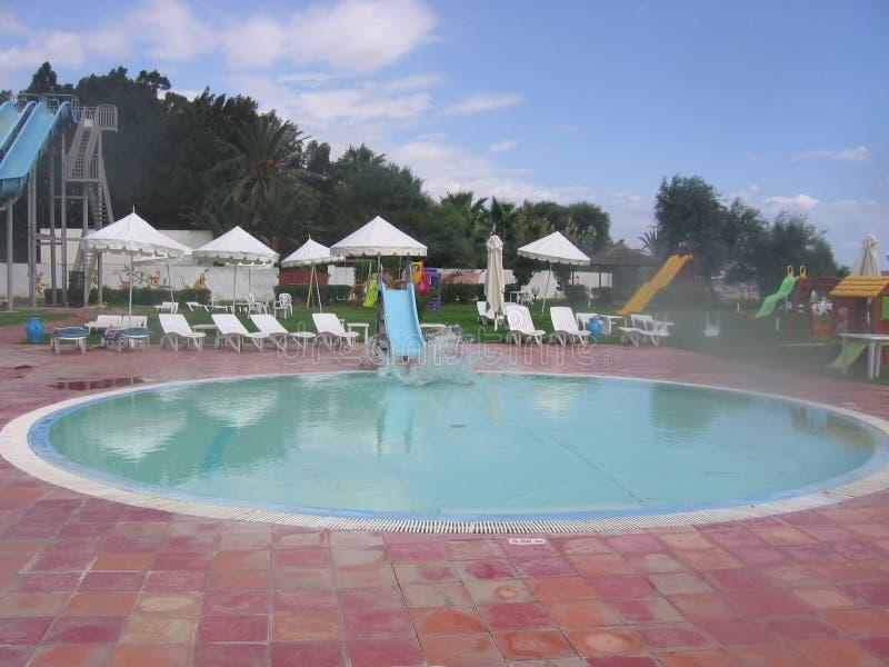 La Tunisia - hotel Mediterraneo fotografia stock libera da diritti