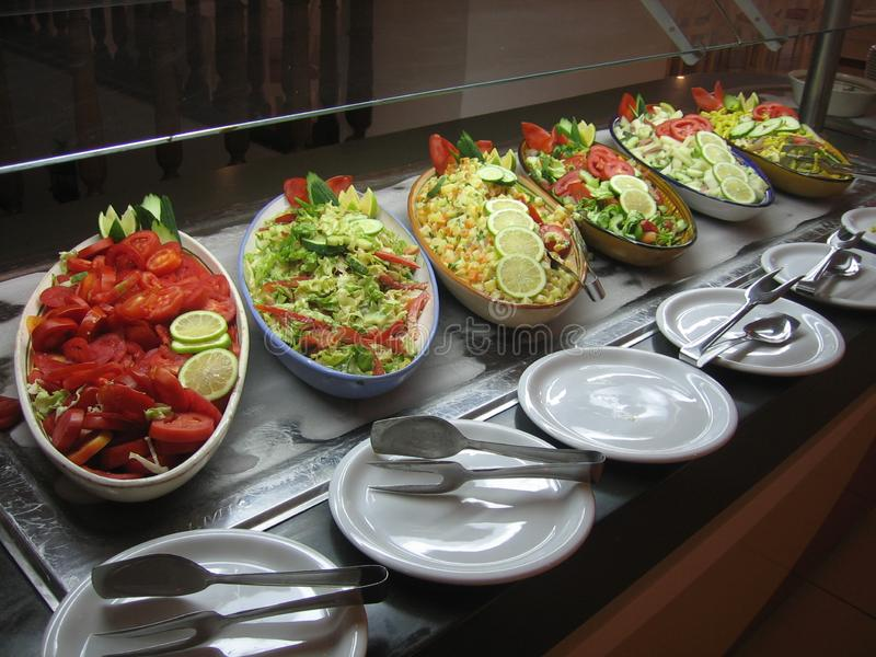 La Tunisie - nourriture méditerranéenne photos stock
