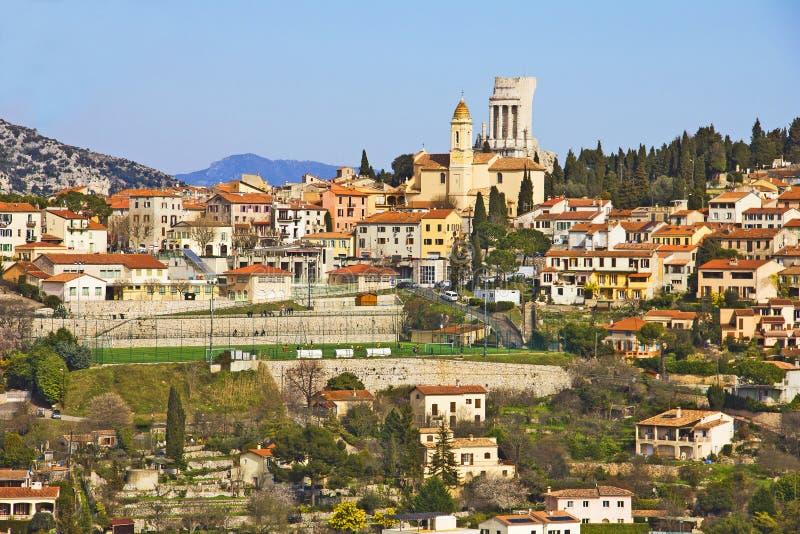 La Turbie e o DES Alpes de Trophee, Cote d'Azur fotos de stock royalty free