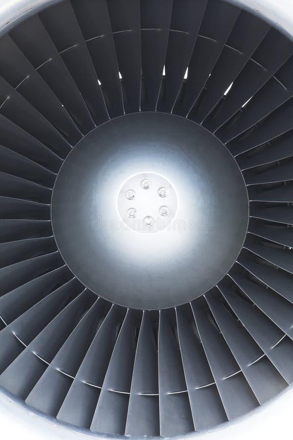 La turbina de un motor de jet fotos de archivo libres de regalías