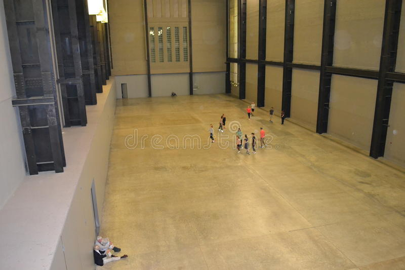 La turbina Hall Tate Modern London immagine stock