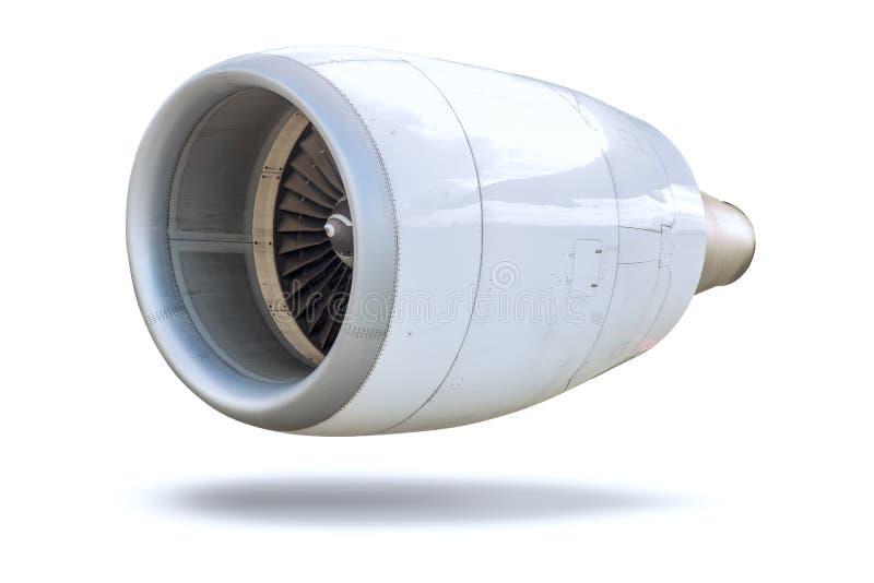 La turbina Jet Engine de los aviones aisló fotografía de archivo libre de regalías