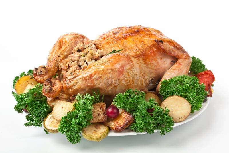 La Turchia arrostita festa con il riempimento immagine stock
