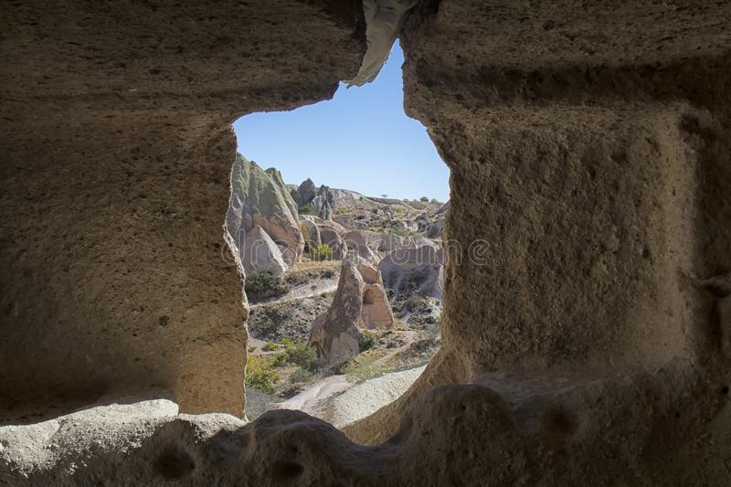 La Turchia, Cappadocia, roccia, paesaggio, pietra fotografia stock