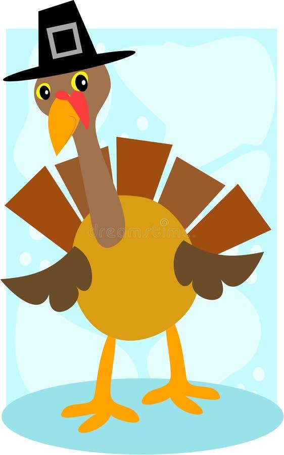 La Turchia con un cappello di Pilgrimâs illustrazione di stock