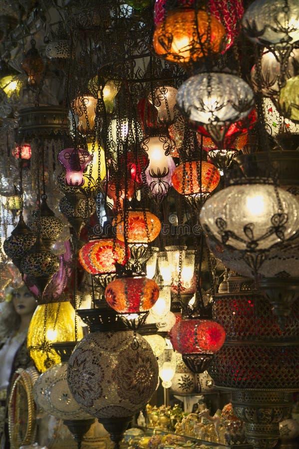 La Turchia, Costantinopoli, grande bazar fotografie stock