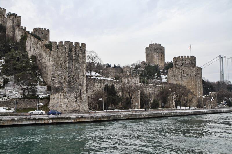 La Turchia, Costantinopoli, la fortezza di Rumeli fotografia stock