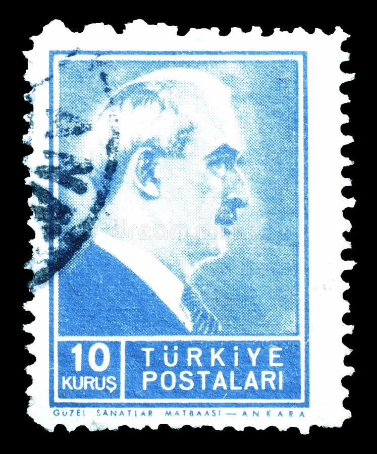 La Turchia sui francobolli fotografie stock libere da diritti