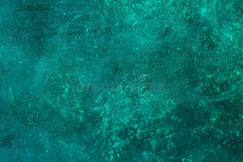 La turquesa azul apenada vieja aherrumbró el fondo de cobre amarillo con textura áspera Manchado, pendiente, concreta imagenes de archivo