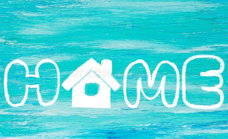 La turquesa del logotipo del hogar de la palabra fotos de archivo