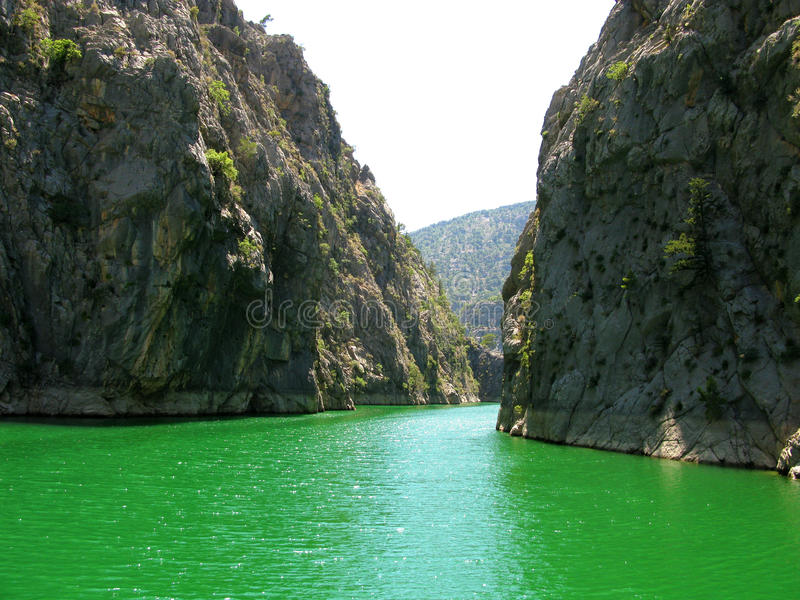 La Turquie. Canyon vert images libres de droits