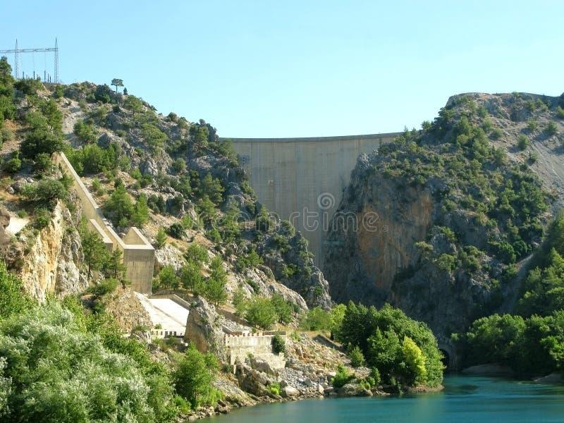 La Turquie. Canyon vert. Barrage photos stock