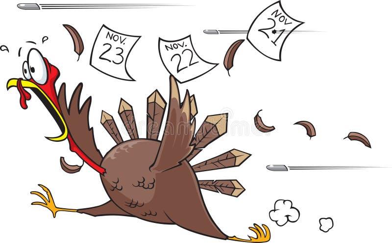 La Turquie effrayée fonctionnante illustration de vecteur