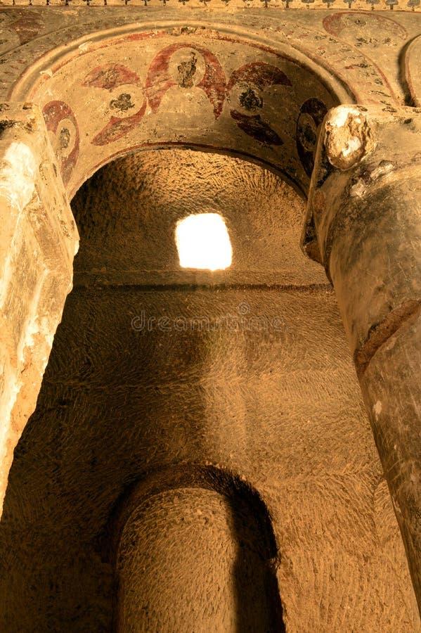 La Turquie : Fresques de cathédrale de Selime (église de roche) photos libres de droits