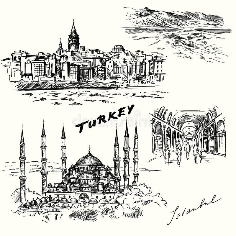 La Turquie, Istanbul illustration stock