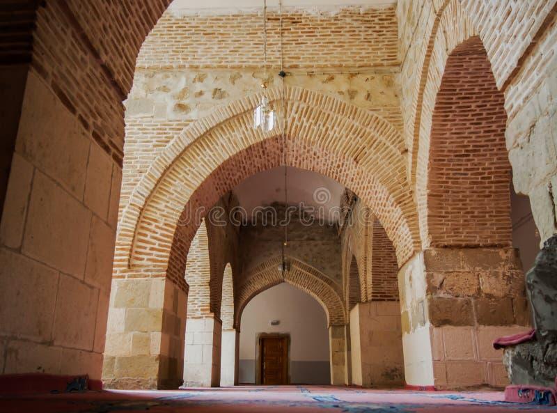 La Turquie, mosquée grande historique d'Elazig Harput à l'intérieur de vue photo stock