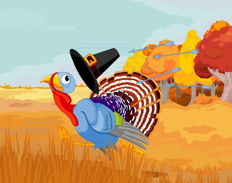 La Turquie s'échappe des flèches illustration stock