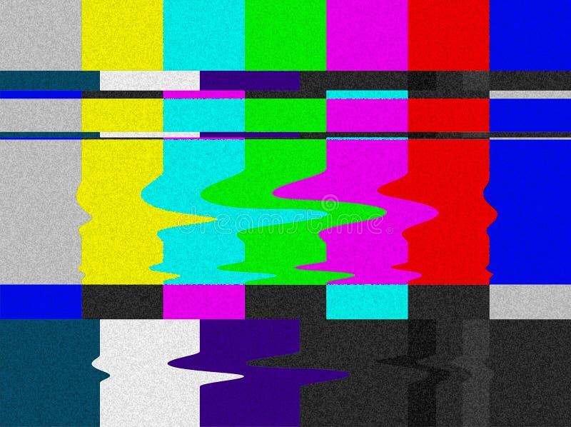 La TV barra error de la señal. stock de ilustración