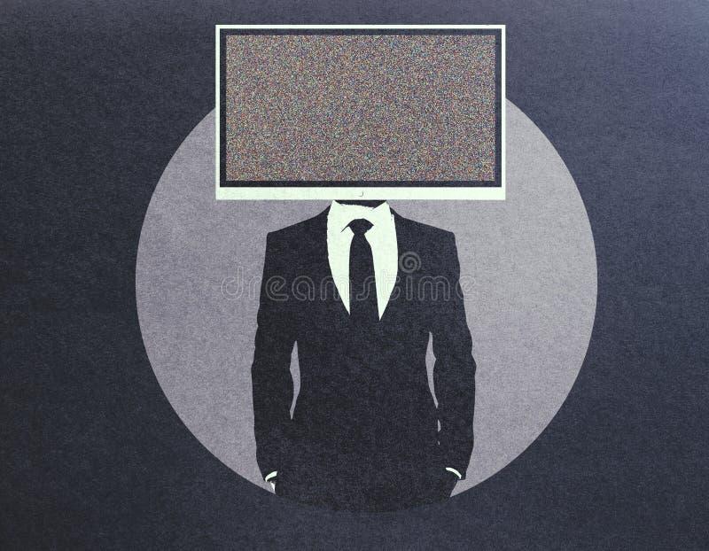 La TV a dirigé l'homme d'affaires illustration stock