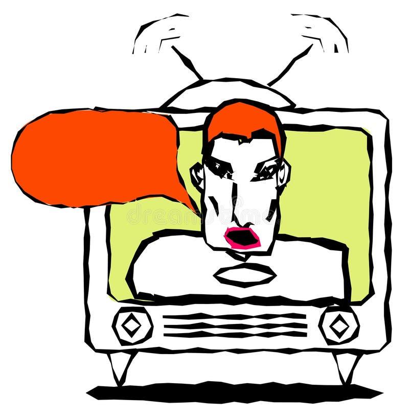 La TV indiquent illustration libre de droits