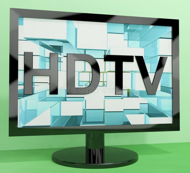 La TVAD vigila la representación de la alta definición stock de ilustración