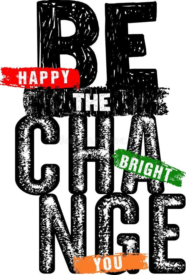 La typographie de conception soit le changement illustration libre de droits